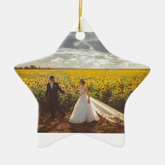 Ornement Étoile En Céramique Cadeaux de mariage