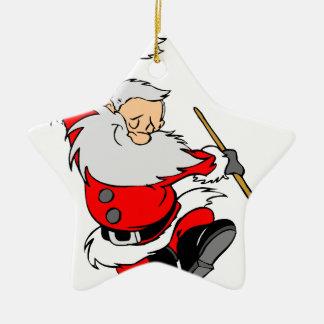 Ornement Étoile En Céramique Cadeaux de Père Noël