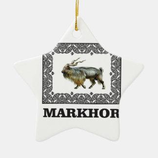 Ornement Étoile En Céramique Cadre fleuri de Markhor
