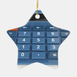 Ornement Étoile En Céramique Calculatrice bleue