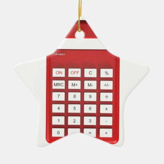 Ornement Étoile En Céramique Calculatrice rouge de calculatrice