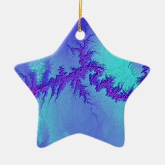 Ornement Étoile En Céramique Canyon grand de style lumineux de nébuleuse de