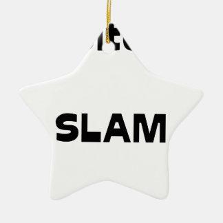 Ornement Étoile En Céramique Capitaine SLAM - Jeux de Mots - Francois Ville