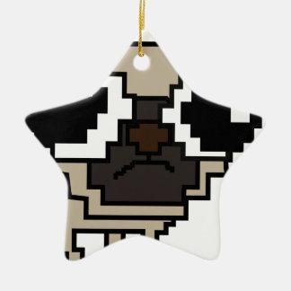 Ornement Étoile En Céramique carlin stupide de pixel