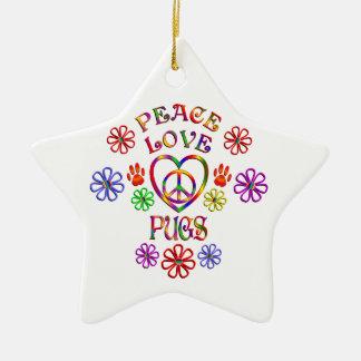 Ornement Étoile En Céramique Carlins d'amour de paix