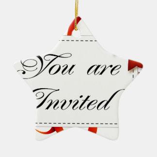 Ornement Étoile En Céramique Carte d'invitation >> vous êtes invités