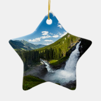Ornement Étoile En Céramique cascade de krimml, Autriche