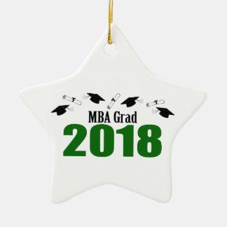 Ornement Étoile En Céramique Casquettes du diplômé 2018 de MBA et diplômes