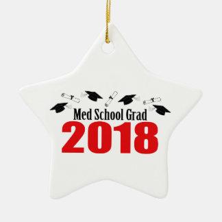Ornement Étoile En Céramique Casquettes et diplômes du diplômé 2018 d'école de