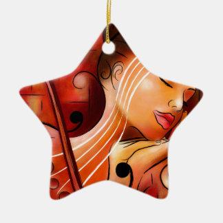 Ornement Étoile En Céramique Casselopia - rêve de violon
