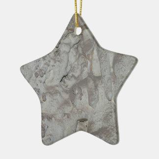 Ornement Étoile En Céramique Caverne grise