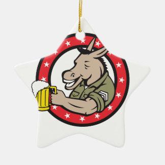 Ornement Étoile En Céramique Cercle de buveur de bière d'âne rétro