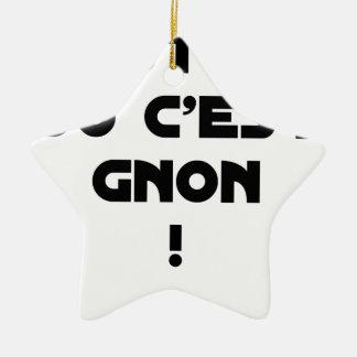 Ornement Étoile En Céramique C'EST OUI OU C'EST GNON ! - Jeux de mots