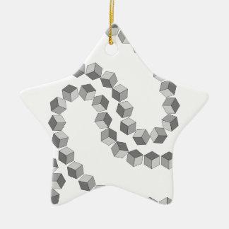 Ornement Étoile En Céramique Chaîne de bloc
