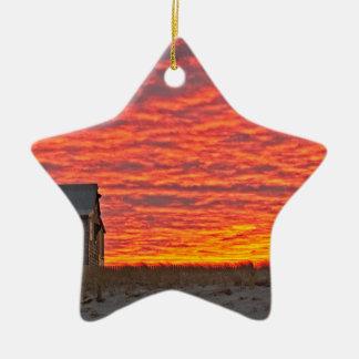 Ornement Étoile En Céramique Chambre au coucher du soleil - 2