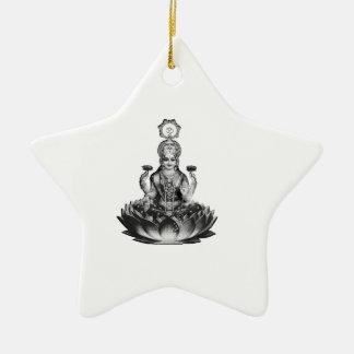 Ornement Étoile En Céramique Chanson de Lotus