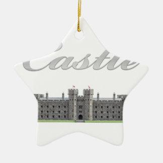 Ornement Étoile En Céramique Château britannique classique avec le texte de