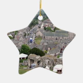 Ornement Étoile En Céramique Château de Corfe, Dorset, Angleterre