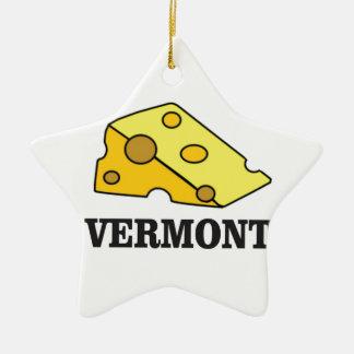 Ornement Étoile En Céramique Cheddar du Vermont