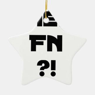 Ornement Étoile En Céramique Chéri FN ?! - Jeux de Mots - Francois Ville