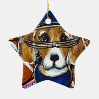 Ornement Étoile En Céramique Chien de beagle