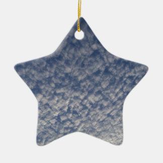 Ornement Étoile En Céramique ciel de maquereau