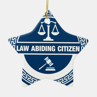 Ornement Étoile En Céramique Citoyen respectueux des lois