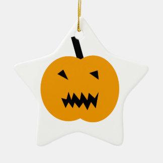 Ornement Étoile En Céramique Citrouille de Halloween