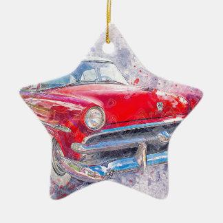 Ornement Étoile En Céramique Classique vintage de vieille voiture de voiture