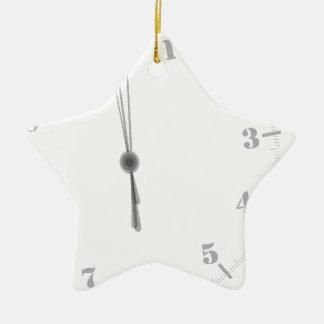 Ornement Étoile En Céramique Clockface de minuit