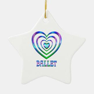 Ornement Étoile En Céramique Coeurs de ballet
