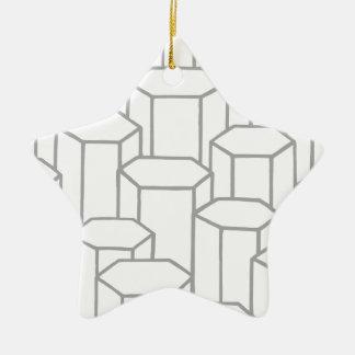 Ornement Étoile En Céramique Colonnes hexagonales
