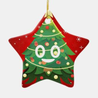 Ornement Étoile En Céramique Conception d'arbre de Noël d'Emoji