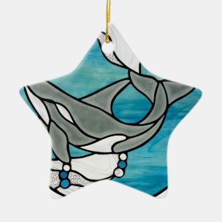 Ornement Étoile En Céramique Conception d'art en verre souillé de baleine