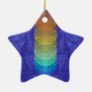 Ornement Étoile En Céramique Conception de tapisserie de Chakra de yoga