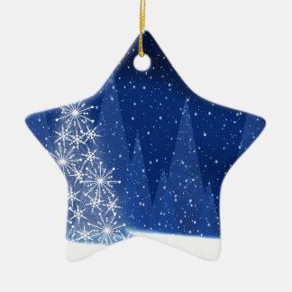 Ornement Étoile En Céramique Conception de vacances d'arbre de Noël de nuit de