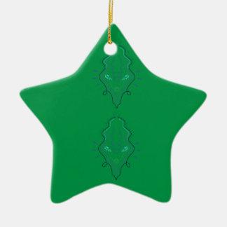 Ornement Étoile En Céramique Conception de vert d'émeraudes