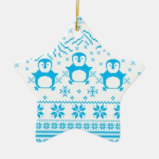 Ornement Étoile En Céramique Conception scandinave bleue mignonne de vacances