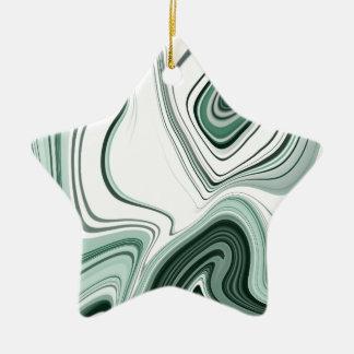 Ornement Étoile En Céramique Conception verte audacieuse d'effet de pierre