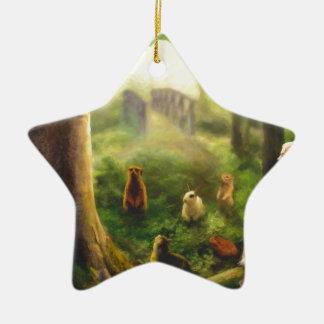 Ornement Étoile En Céramique Contes de l'arbre de chuchotement