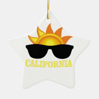Ornement Étoile En Céramique Cool de Californien