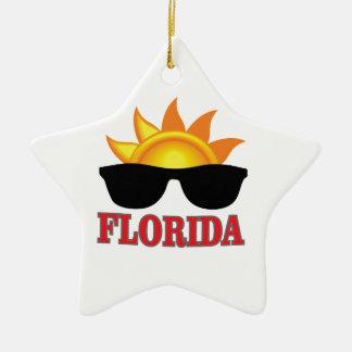 Ornement Étoile En Céramique Cool de la Floride