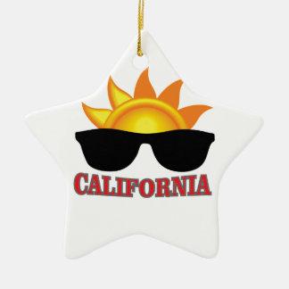 Ornement Étoile En Céramique cool rouge de la Californie