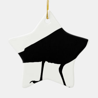 Ornement Étoile En Céramique Corneille noire