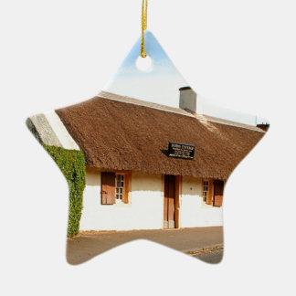 Ornement Étoile En Céramique Cottage de Robert Burns, Alloway, Ecosse