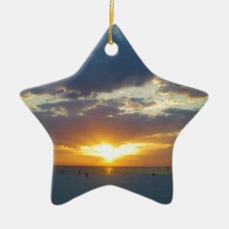 Ornement Étoile En Céramique Coucher du soleil