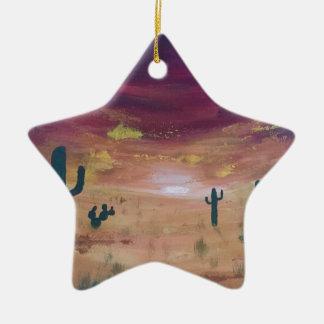 Ornement Étoile En Céramique Coucher du soleil de désert