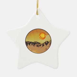 Ornement Étoile En Céramique Coucher du soleil de montagne