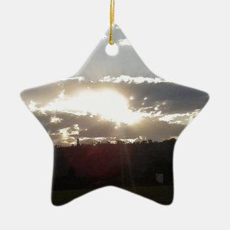 Ornement Étoile En Céramique Coucher du soleil d'Imperani