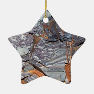 Ornement Étoile En Céramique Couches naturelles d'agate dans un grès